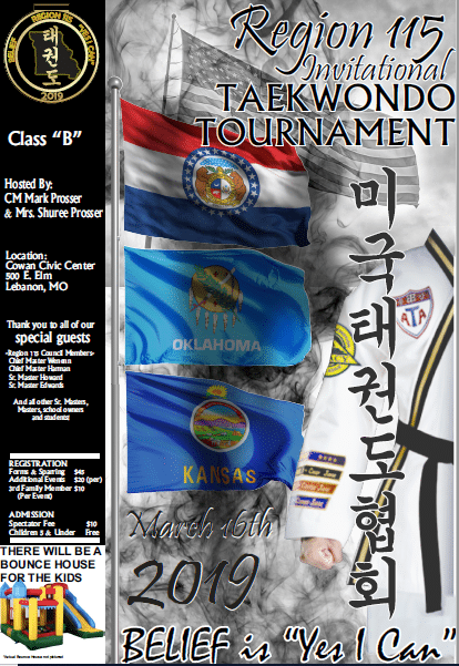 REGION 115 INVITATIONAL TAEKWONDO TOURNAMENT